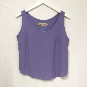 Jams World Solid Violet Tank Top Small